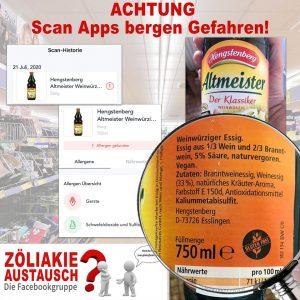 Gluten Check App - Fehler
