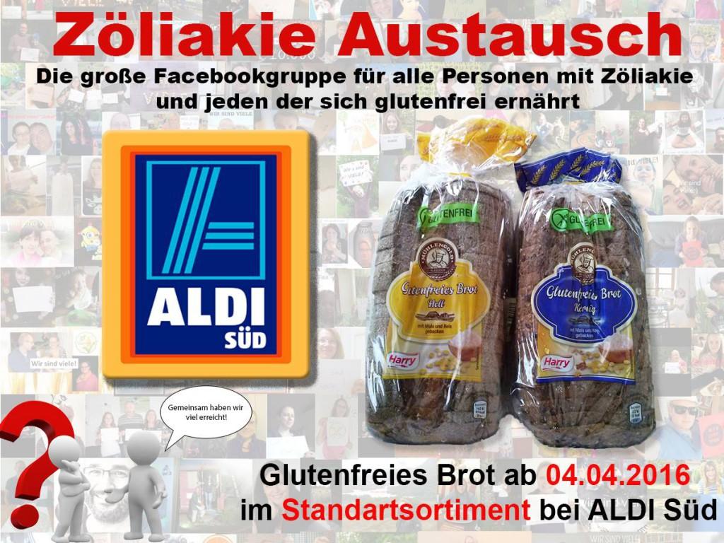 Glutenfreies Brot bei ALDI Süd ab 4.4.2016 im Dauersortiment