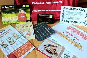 Gutscheine im Zöliakie Austausch Rucksack zum Welt-Zöliakie Tag 2015