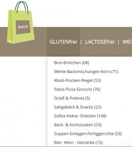Glutenfreies Angebot