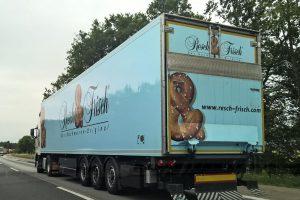 Resch & Frisch LKW auf dem Weg zu den Kunden in Deustschland