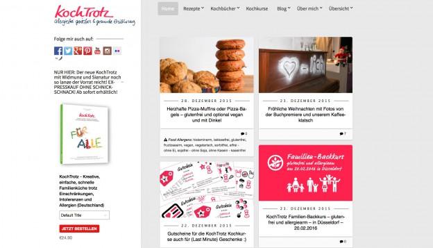Screenshot www.Kochtrotz.de