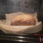 Nach 10 Minuten das Brot direkt aufs Backblech