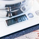 430 Gramm lauwarmes Wasser