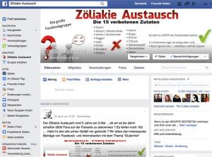 Facebookgruppe Zöliakie Austausch