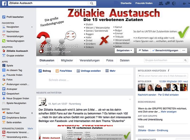 Zoeliakie_Austausch_Facebookgruppe
