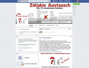 Link zur Facebook Fanpage Zöliakie Austausch
