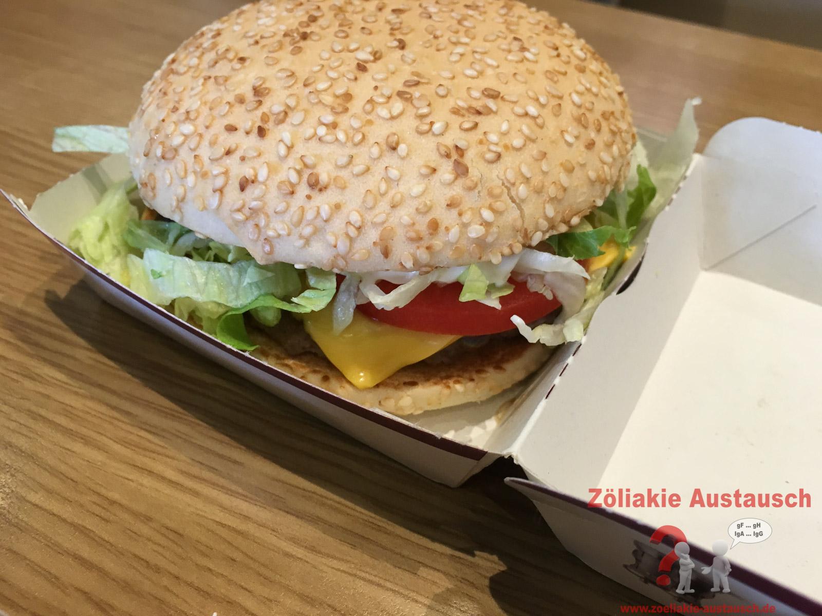 Glutenfreie Burger bei Mc Donalds in Österreich
