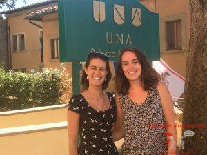 Marilia und Marta im UNA Hotel im Mantaione