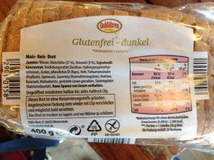 Zutatenliste des ALDI Nord Brotes von Stöhr
