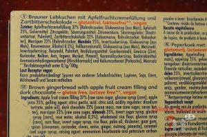 Zutaten glutenfreie Dominosteine