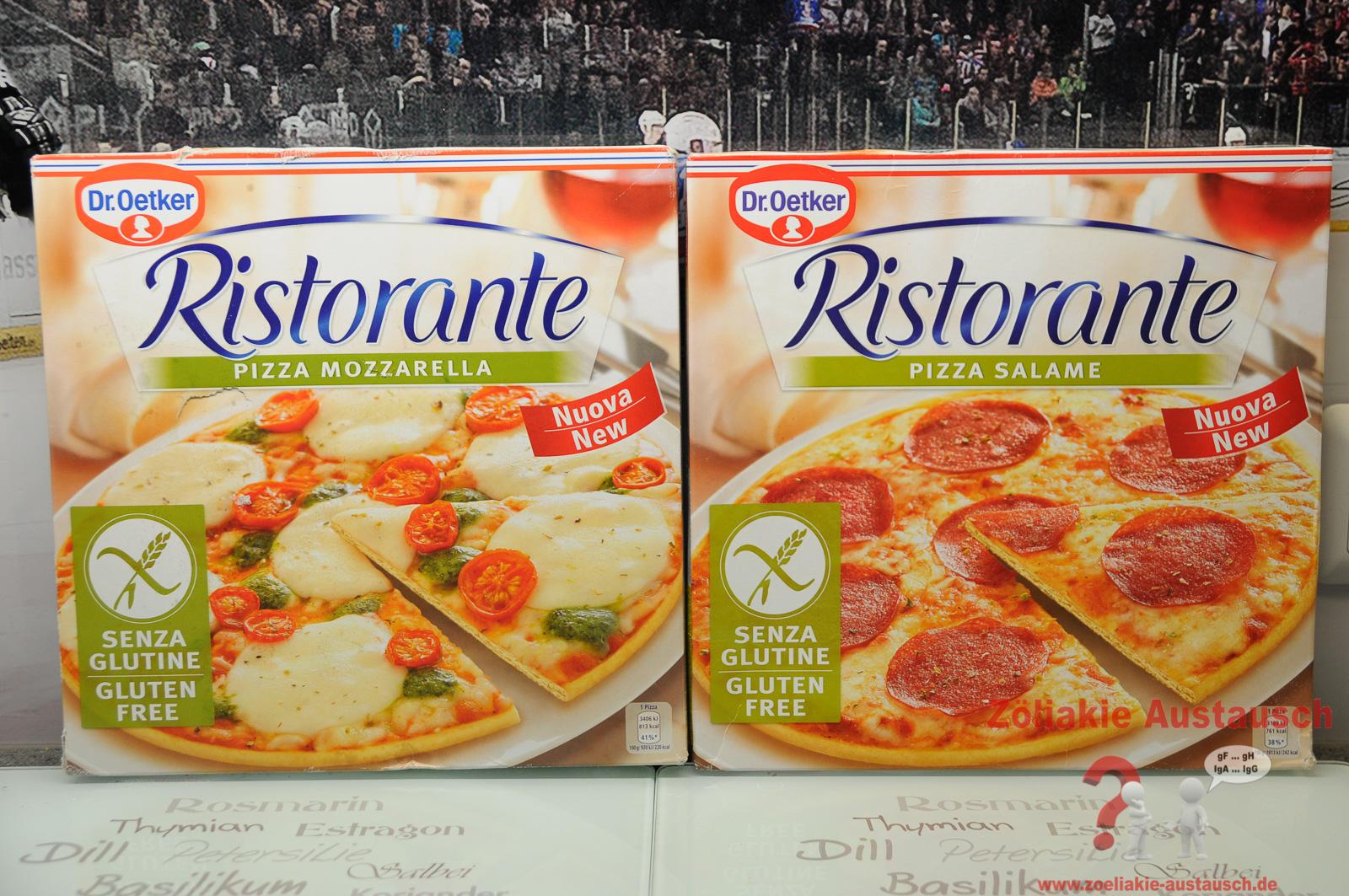 Die Glutenfreien Dr Oetker Pizzen Salami Und Mozzarella