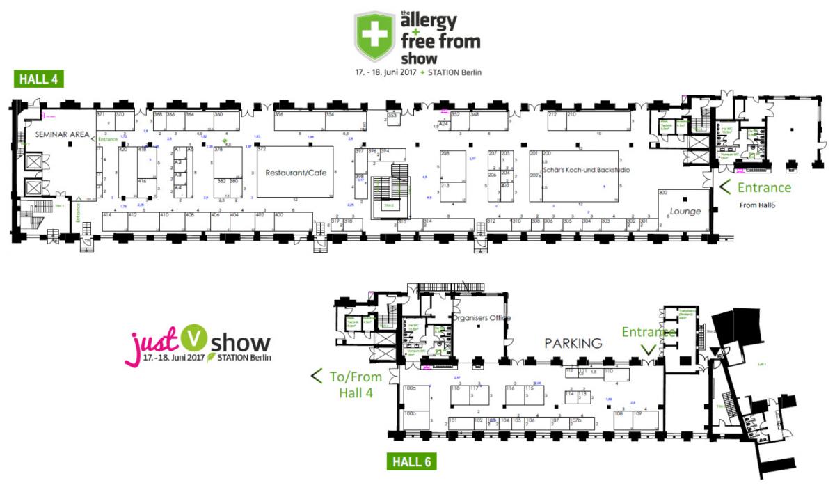 Hallenplan AllergyShow 2017