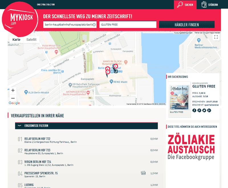 MyKiosk Webseite