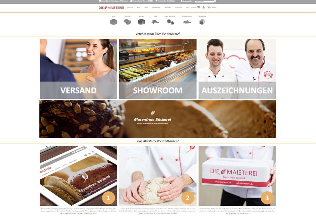 Maisterei-OnlineShop-Homepage