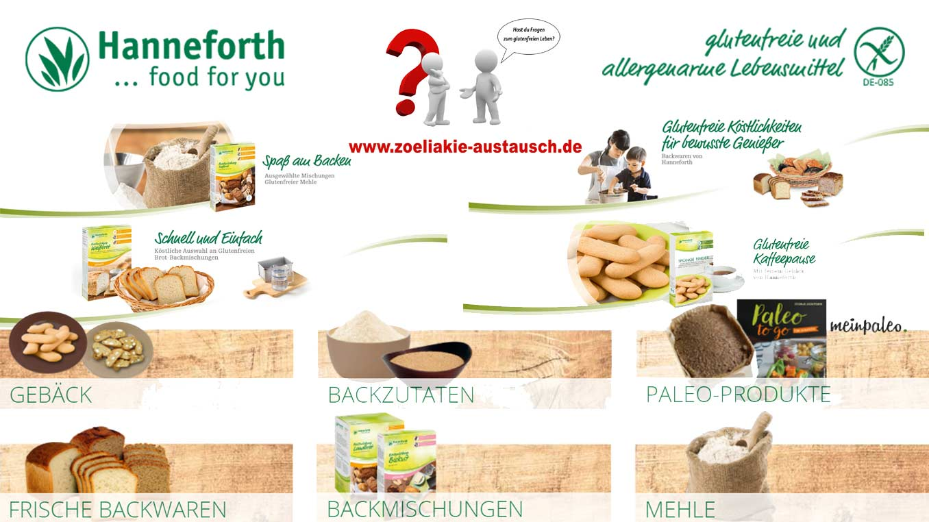 Glutenfreie Produkte von Hanneforth
