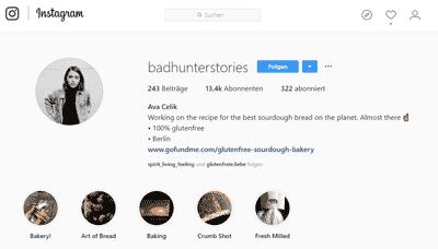 Badhunterstories auf Instagram