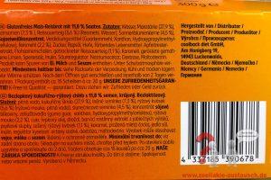 Zutatenliste Saatenbrot K-free glutenfrei