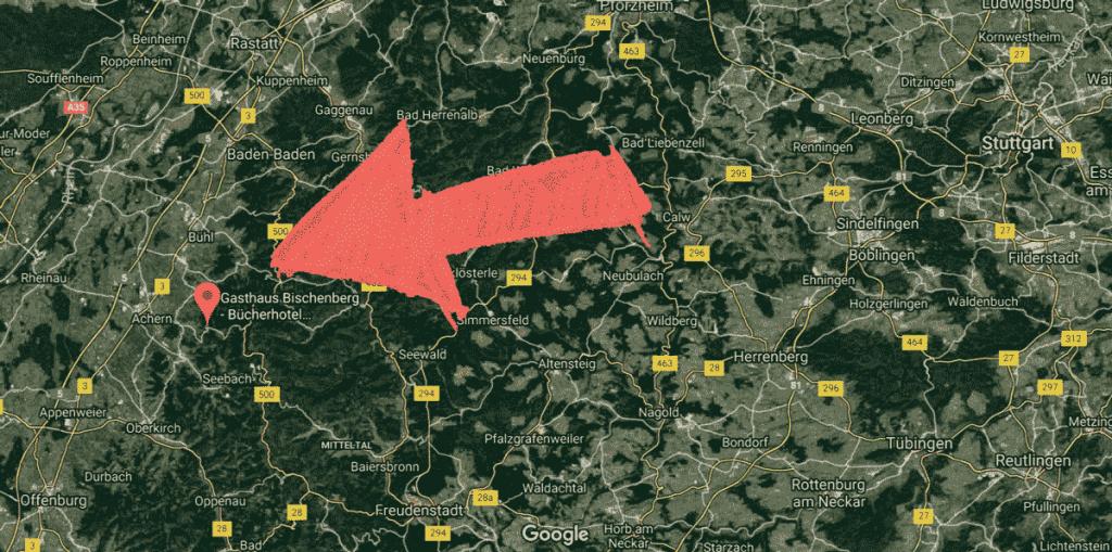 Karten Map Sasbachwalden