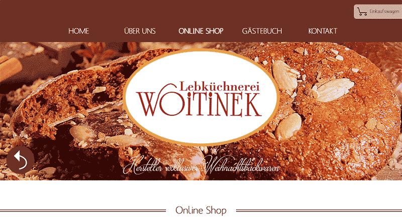 Webshop www.Woitinek-lebkuchen.de