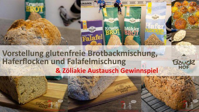 Bauckhof - Glutenfreie Brotbackmischungen, Haferflocken, Falafel