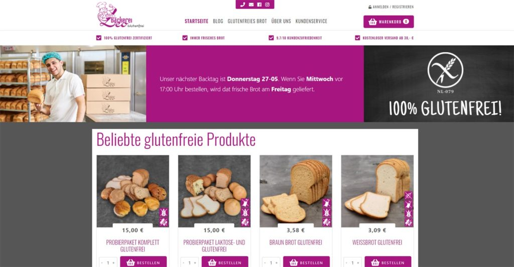 Webshop Leo Bäckerei